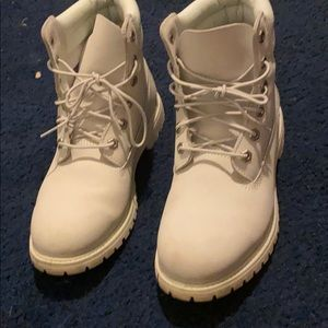 Timberlands all white